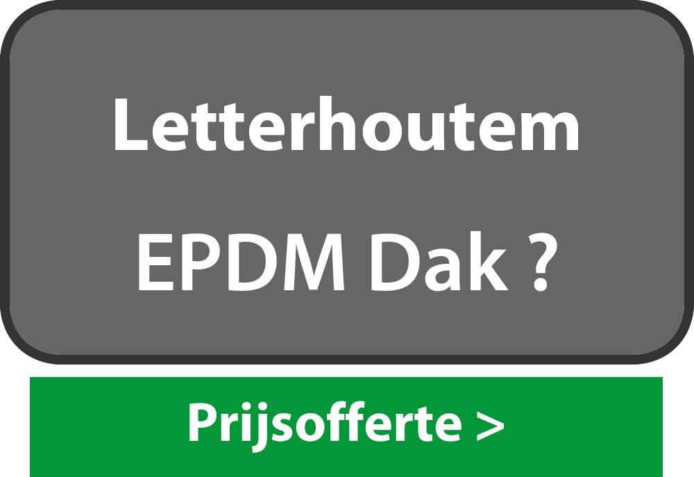 EPDM Letterhoutem