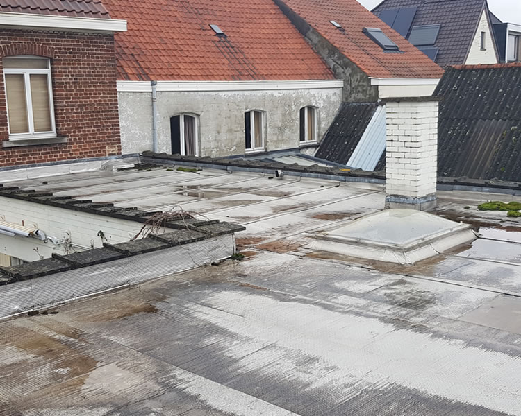 EPDM dak renoveren in Wortegem